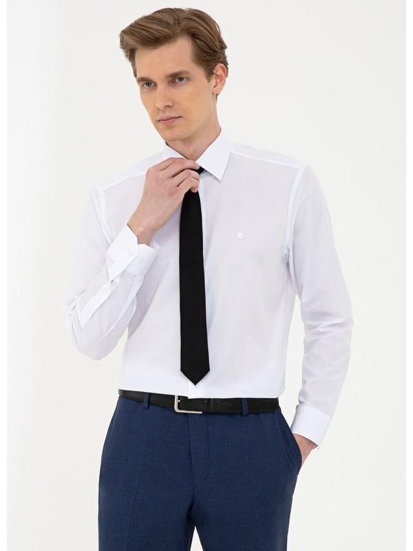 Pierre Cardin Beyaz Regular Fit Basic Gömlek 50240463-VR013