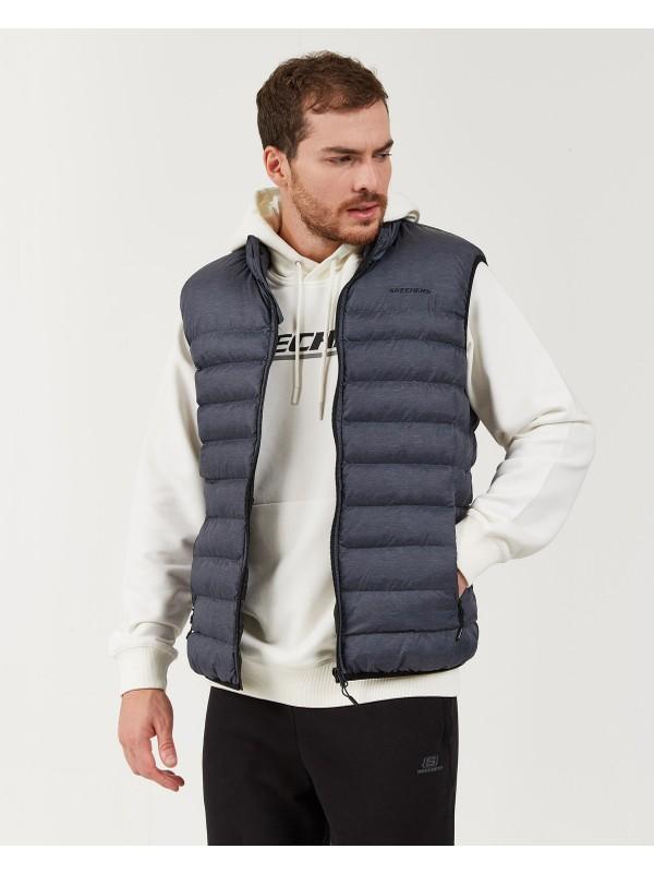 Skechers Outerwear M Basic Lightweight Vest Erkek Gri Yelek S202174-003