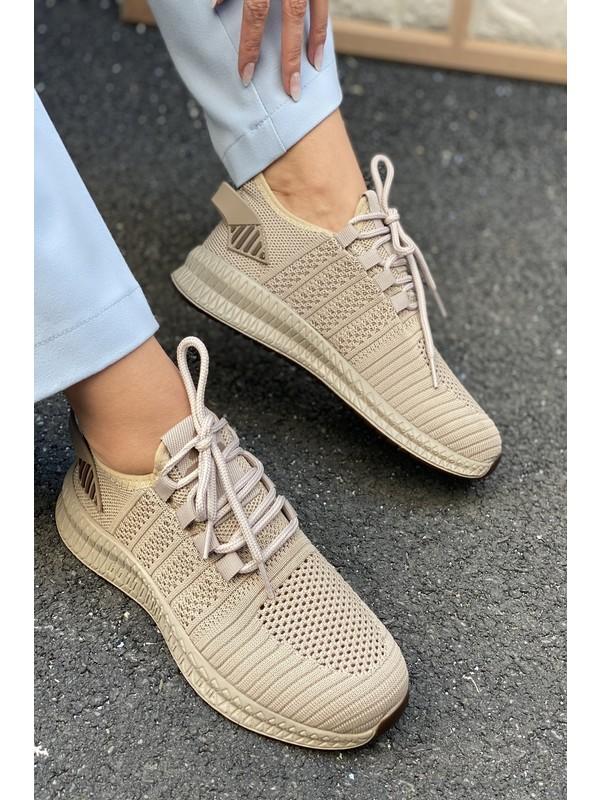İnan Ayakkabı Unisex Insport Triko Spor Ayakkabı Sneaker