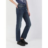 Colins 792 MILA Orta Bel Düz Paça Regular Fit Mavi Kadın Jean Pantolon
