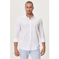 Altınyıldız Classics Tailored Slim Fit Dar Kesim Düğmeli Yaka Koton Gömlek
