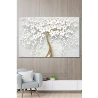 Yoko Kanvas Tablo Çiçekli Ağaç Duvar Dekorasyon Moda Tablo 60 x 120 cm