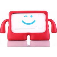 Mobax Mobaxaksesuar Apple iPad 5 Nesil 9.7 2017 Kılıf Çocuklara Özel Silikon Kılıf A1822 A1823 Kırmızı