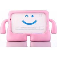 Mobax Mobaxaksesuar Samsung Galaxy Tab E T560 9.6 Kılıf Çocuklara Özel Silikon Kılıf Açık Pembe