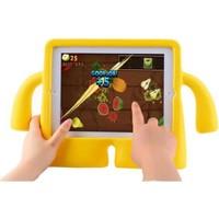 Mobax Mobaxaksesuar Samsung Galaxy Tab 3 Lite 7.0 T110 T113 T115 Kılıf Çocuklara Özel Silikon Kılıf Sarı