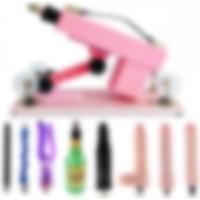 Hismith Pembe Otomatik Oyun Makine +1 Vajina + 5 Vibratör+Çubuk Komple Set