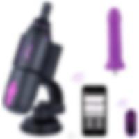 Hismith Seyahatlare Özel Güçlü Vantuzlu Kumanda ve Telefon Kontrol Seks Makinesi