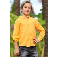 Jack Lions Erkek Çocuk Gömlek Basic Hardal Sarı (5-14 Yaş)