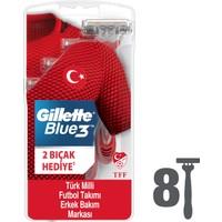 Gillette Blue3 8'li Milli Takım Özel Paketi Tıraş Bıçağı