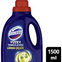 Domestos Yüzey Temizleyici Tek Ürünle Tüm Zeminlerde Maksimum Hijyen Limon Çiçeği 1500 ml25 Kova
