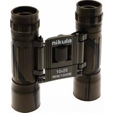 Nikula 10X25 El Dürbünü - Askeri - Kauçuk Kaplama - 1000M/96M