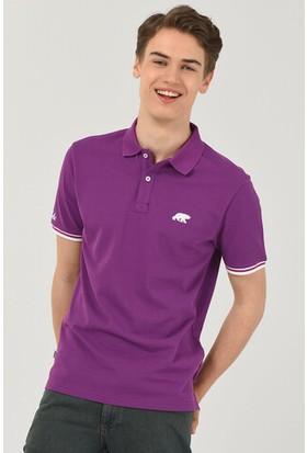 Ucla Bruno Mor Polo Yaka Nakışlı Erkek Tshirt