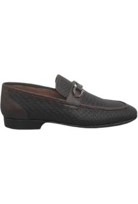 Kemal Tanca Hakiki Deri Erkek Ayakkabısı Kösele Taban Koyu Kahve 04817