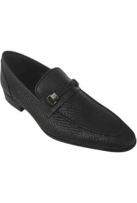 Kemal Tanca Hakiki Deri Erkek Ayakkabı Lacivert Kösele Taban 04802