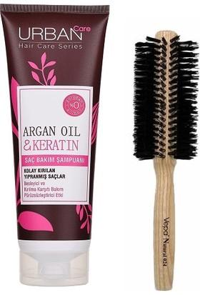 Urban Care Onarıcı ve Pürüzsüzleştirici Argan Yağlı Şampuan 250 Ml+Doğal Saç Fırçaı