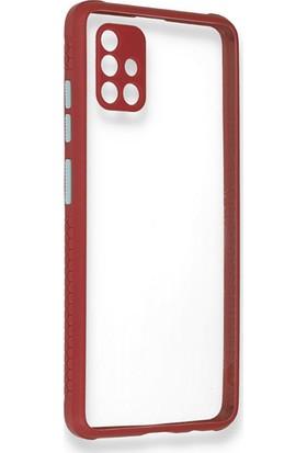 Moserini Samsung Galaxy A51 Miami Silikon Pembe Telefon Kılıfı - Arka Kapak
