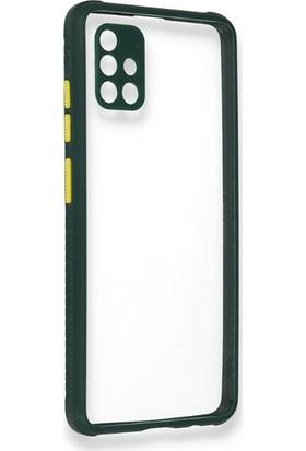 Moserini Samsung Galaxy A51 Miami Silikon Yeşil Telefon Kılıfı - Arka Kapak