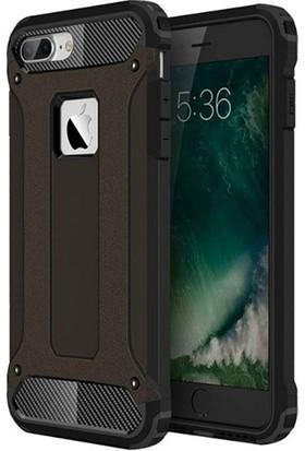 Moserini Apple iPhone 6 / 6s Tank Cover Siyah Telefon Kılıfı - Arka Kapak