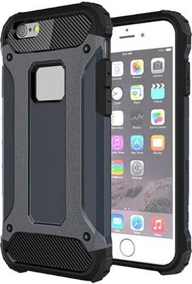 Moserini Apple iPhone 6 / 6s Tank Cover Lacivert Telefon Kılıfı - Arka Kapak
