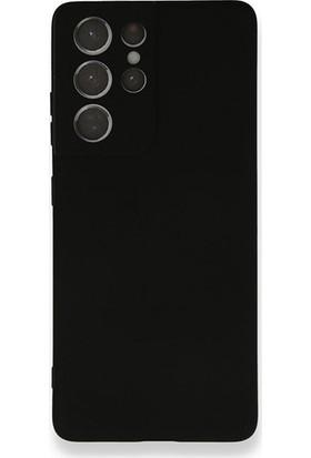 Moserini Samsung Galaxy S21 Ultra Lansman Telefon Kılıfı - Arka Kapak- Pürüzsüz Soft Yüzey - Siyah