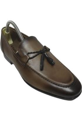 Kemal Tanca Hakiki Deri Açık Kahverengi Erkek Ayakkabı 04516