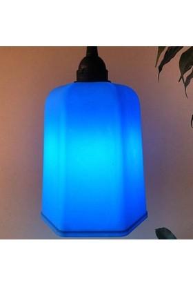 Marketcik Açık Mavi Renk Park Bahçe Ağaç Feneri Işığı