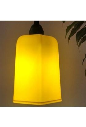 Marketcik Sarı Renk Park Bahçe Ağaç Feneri Işığı