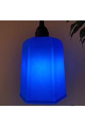 Marketcik Mavi Renk Park Bahçe Ağaç Feneri Işığı