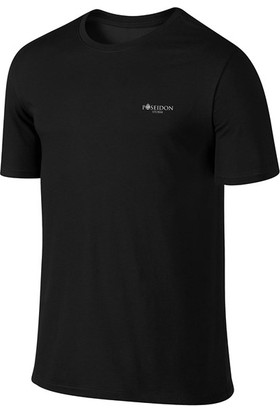 Erkek Büyük Beden Siyah Sporcu Günlük Tişört ve Şort Takımı 4XL-10XL - Md1