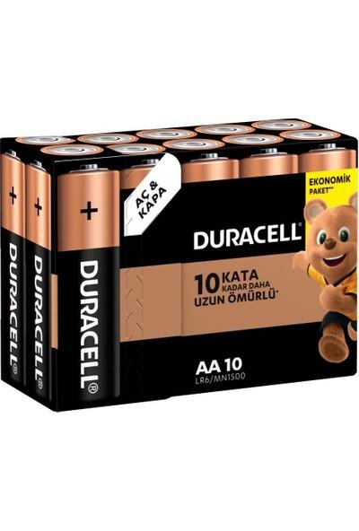 Duracell Alkalin AA Kalem Piller, 10'lu paket