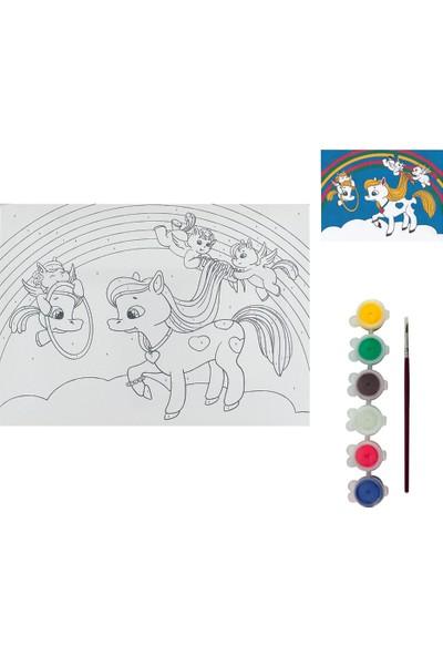 Okutan Hobi Montessori Tuval Boyama Sayılı Set 25X35 - BTS25