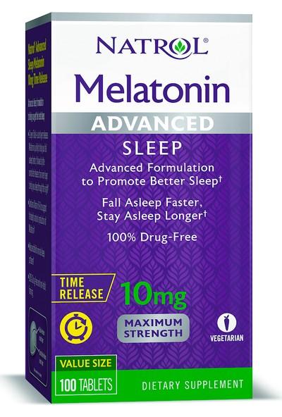 Natrol Melatonin Advanced Sleep 10 Mg 100 Tablet