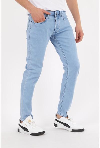Las Vegas Buz Mavi Eskitme Erkek Kot Pantolon