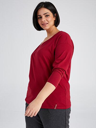 Faik Sönmez V Yaka Uzun Kol T-Shirt 61823