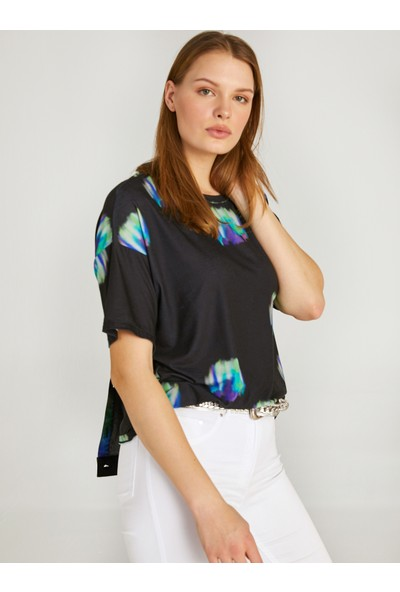 Faik Sönmez Batik Baskılı Yuvarlak Yaka T-Shirt 62511