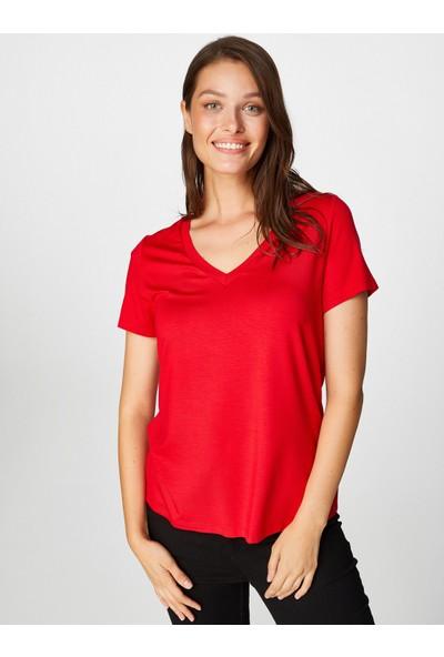 Faik Sönmez V Yaka Kısa Kol T-Shirt 62027