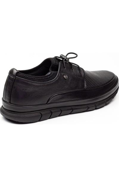 James Fronco 5428 Siyah Deri Erkek Günlük Ayakkabı