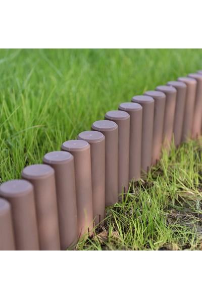 Ekoplas Çim Sınırlayıcı Ahşap Görünümlü Çim Bordürü 3 mt Yeşil