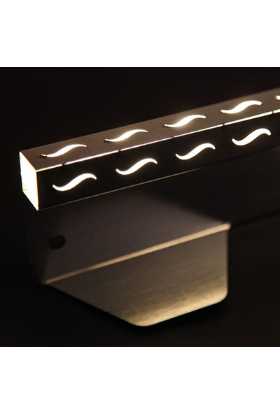 Ekoplas Çim Sınırlayıcı LED Takılabilir 7.5 cm Dalga Desenli Düz Yapıda 12 mt
