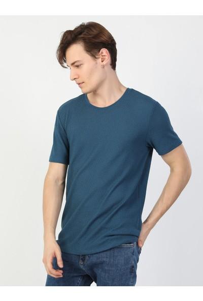 Colin's Regular Fit Erkek Mavi Erkek Kısa Kol Tişört