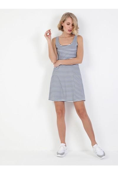 Colins Regular Fit Kadın Lacivert Elbise