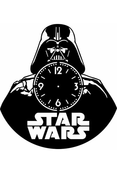 Nefes Star Wars Duvar Saati Mdf (Ahşap) 40X40