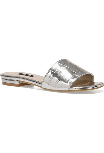 Nine West Croc2 1fx Gümüş Kadın Terlik