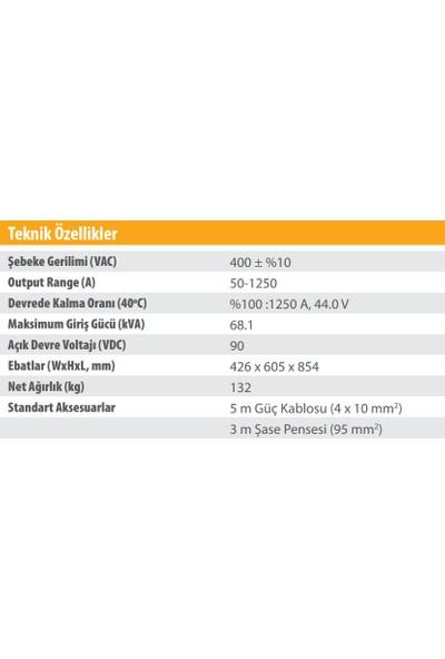 Kolarc Ks 1250 Örtülü Elektrod (Mma) Kaynak Makinası