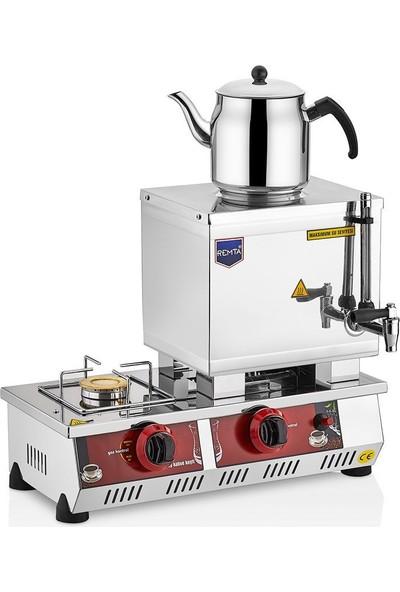 Remta Doğalgazlı Çay Kazanı Tek Demlikli 13 Lt Remta Çay Ocağı Makinesi