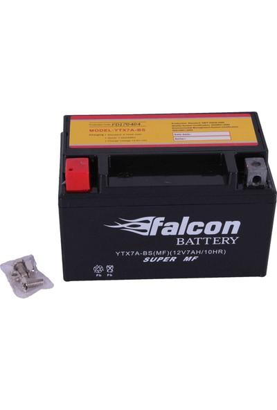 Falcon Scooter Style 50 12 Volt 7 Amper Motosiklet Yatık Kuru Jel Akü (YTX7A-BS) Orijinal