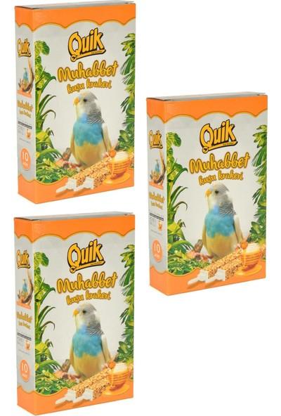 Quik Muhabbet Kuşu Tava Kraker 10'lu (3 Adet)