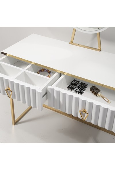 Y&E Albero Albero Asya Beyaz Makyaj Masası Şifonyer