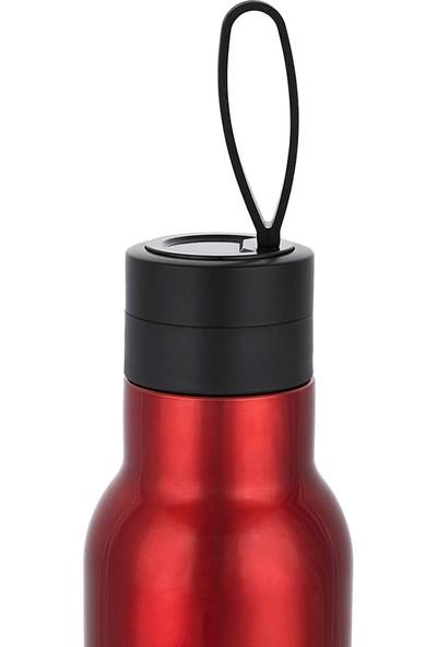 Bialetti Çift Cidarlı 12 Saat Sıcak 24 Saat Soğuk Kırmızı Paslanmaz Çelik Termos 750 ml DCXIN00004