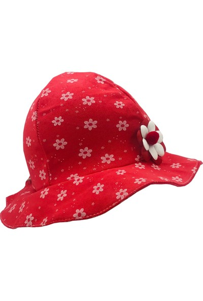 Bilgefil Bebek Bilgefil Yazlık Kız Bebek Şapka 0-9 Ay Çiçek